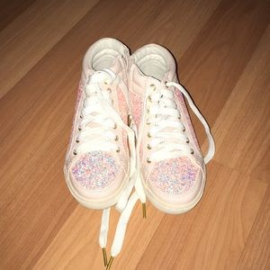 Pink glitter sneakers from justice